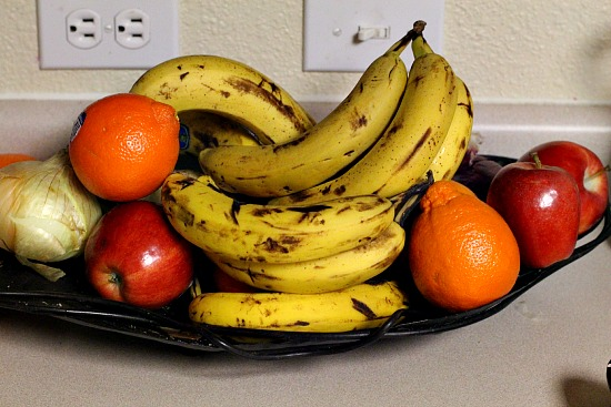 Banana and fruit display