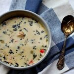 Creamy Lemon Basil Chicken Soup