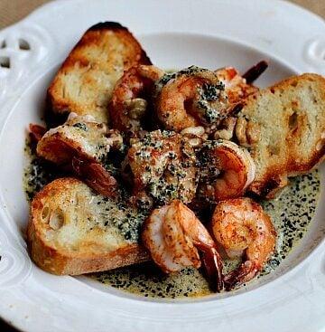 Shrimp Appetizer with Pesto