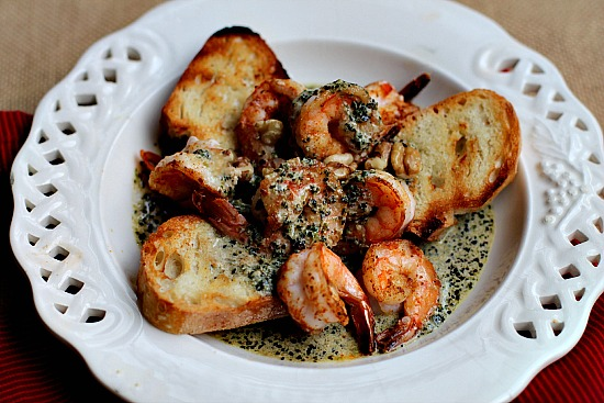 Dip Your Shrimp in Walnut Pesto Cream Sauce, Trip to Santa Barbara Wine Country