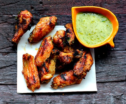 Honey Butter and Horseradish Grilled Chicken Wings