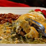 smothered Breakfast Burrito with Hatch Green Chili peppers