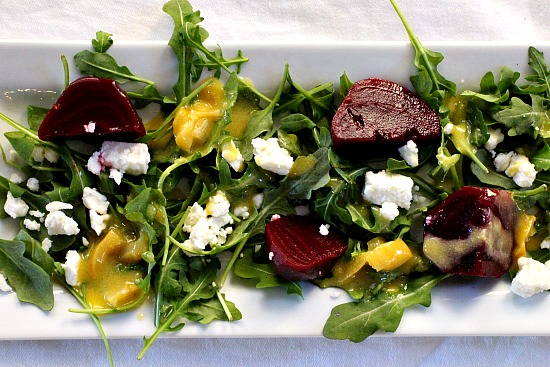 Pickled Beet Salad with Arugula and Feta