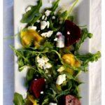 Pickled Beet Salad with feta and arugula
