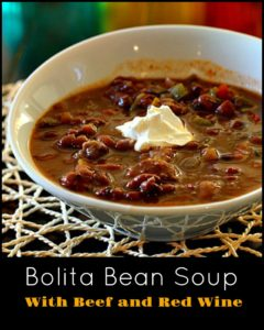 Healthy Hearty Bolita Bean and Beef Soup.