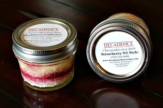 Colorado Cheesecakes in a jar