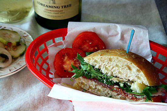 Prosciutto Parmesan Arugula Sandwich, Perfect Picnic Sandwich