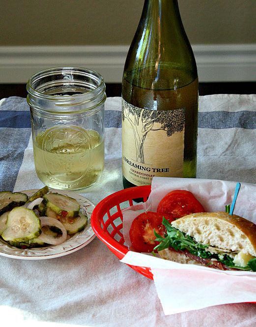 Sideways Movie Picnic Sandwich. With Prosciutto Arugula and Parmesan. Great picnic sandwich recipe.