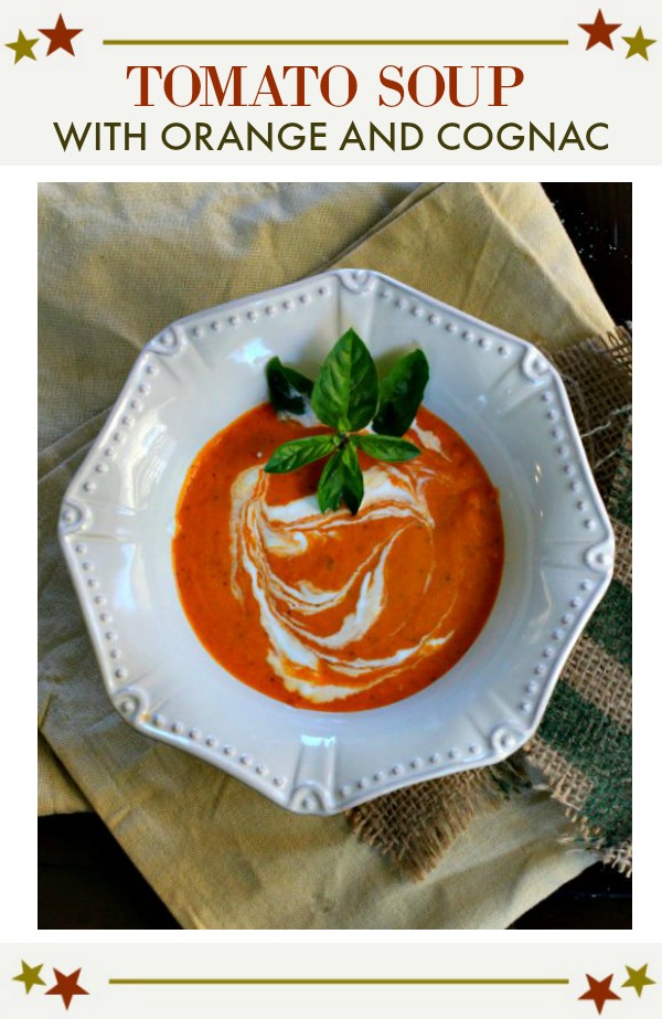 tomato soup with orange and cognac