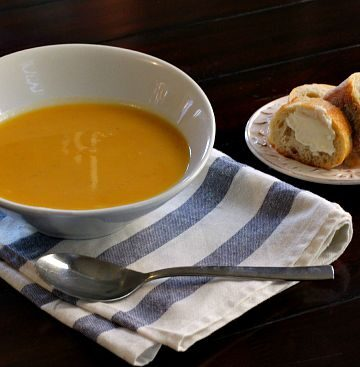 Non Dairy Butternut Squash Soup with Apple