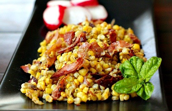 Sweet Corn with Pancetta and Sage