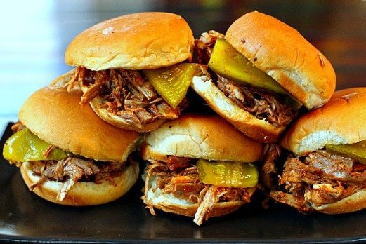 Slow Cooker Dr. Pepper Pulled Pork Sliders