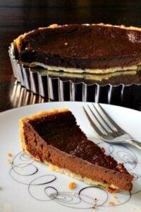 Super Easy Chocolate Tart Dessert Recipe
