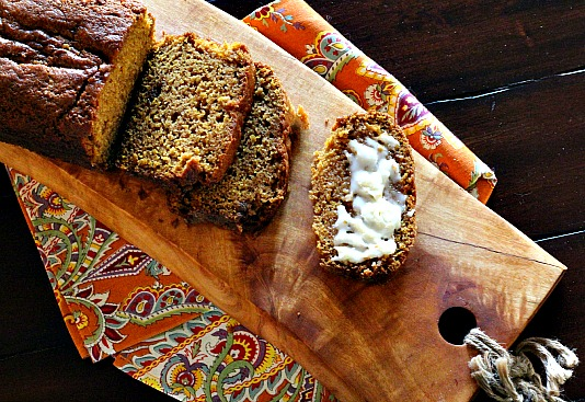 Pumpkin bread made with pumpkin beer ale