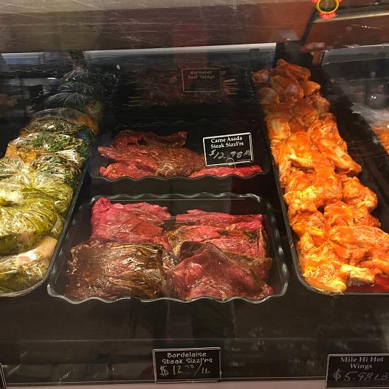 Tony's meat department