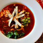 Vegetarian Tortilla Soup with Mushrooms and Chipotle Chile