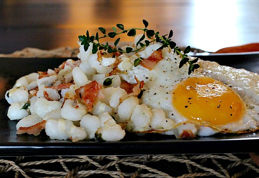 Hominy and Eggs for breakfast