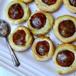 Hogs in a blanket with andouille sausage