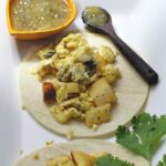 Potato and Scrambled Egg Breakfast Burritos