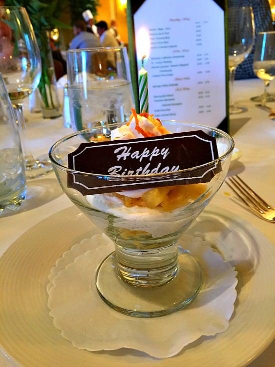 Broadmoor Brunch Happy Birthday Dessert