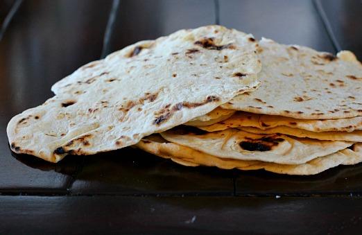 Home made flour tortillas for burritos.