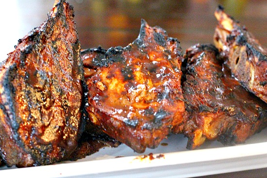Campfire ribs. Ribs for camping either on the grill or over the campfire.
