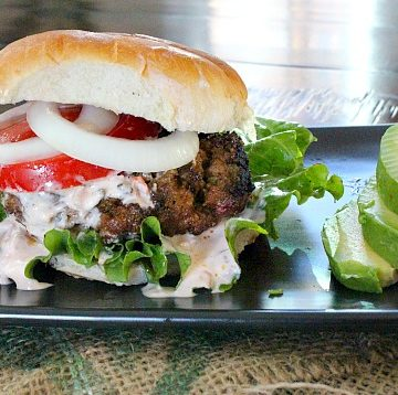 Sprouts Farmer's Market ingredients makes this Taco Burger a great fiesta.