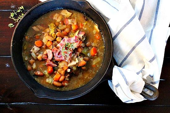 St. Elmo's White Bean Soup with Bacon