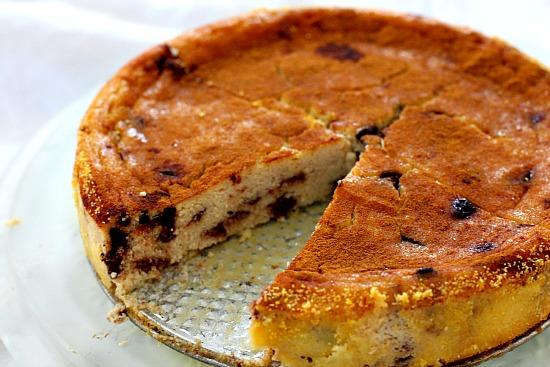 Easy chocolate ricotta custard recipe.