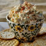 Easy cream cheese artichoke dip idea. Jalapano makes this an exciting party appetizer cheese spread.