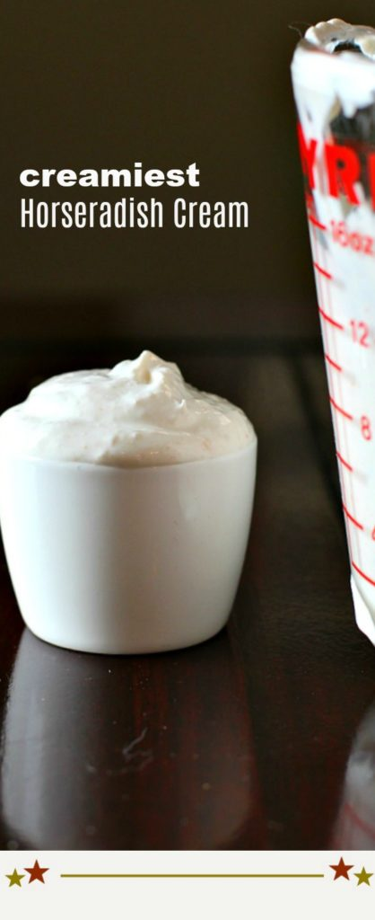 Easy Homemade Horseradish Cream Sauce for Prime Rib or Salmon or anything you want to add some zest to.