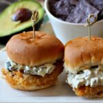 Easy and crazy good. Mexican Fried Chicken Sliders with poblano mayo.