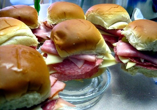 Muffaletta Sliders. A cold sandwich idea that's perfect for Super Bowl Parties.