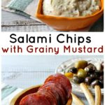 An easy and unique Salami Appetizer Recipe. Salami Chips with Grainy Mustard Sauce. Completely jam packed with flavor.