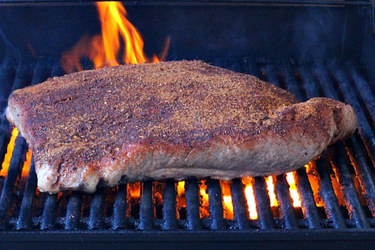 How to sear a beef brisket on the gas grill.