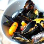 Easy mussel recipe steamed in butter and wine