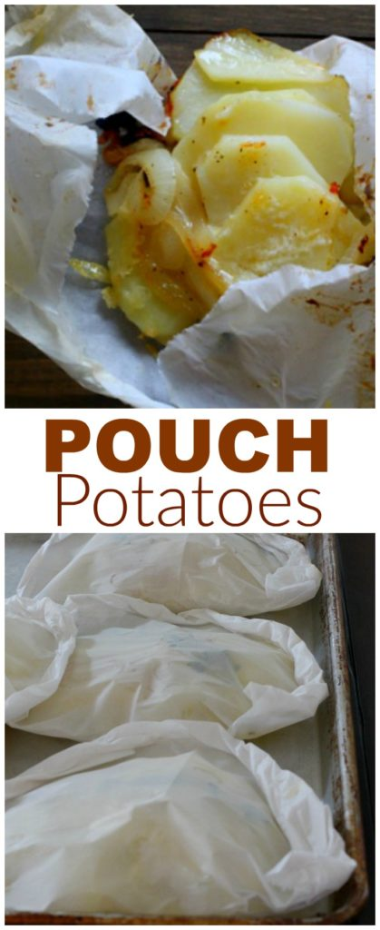 How to cook pouch potatoes in parchment paper.