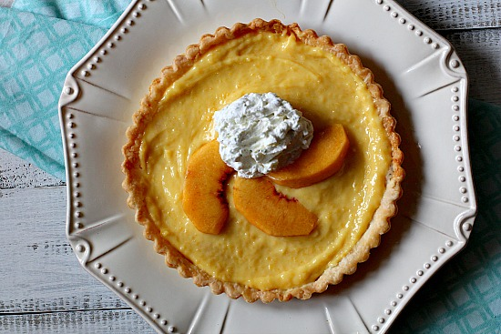 Peach Curd Tart Recipe with Basil Sugar Whipped Cream