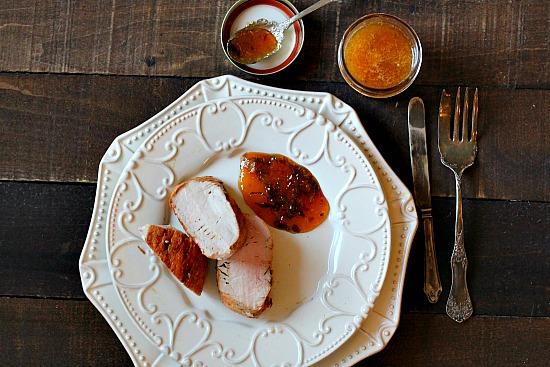 Pork Tenderloin with Peach Basil Gastrique