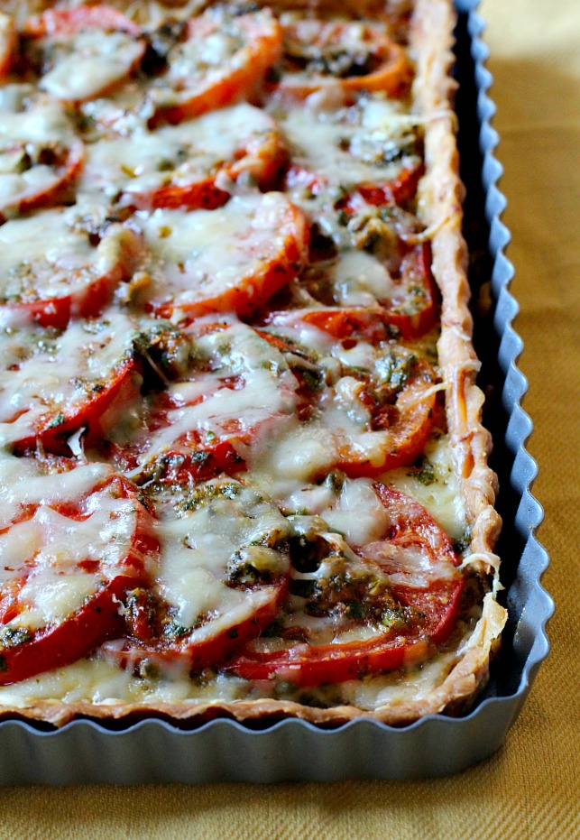 Easy fresh tomato tart recipe. Ina Garten recipe