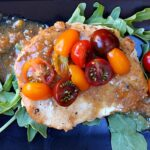 Easy Chicken Cutlet Dinner Recipe. Chicken with Tomato Cumin Vinaigrette