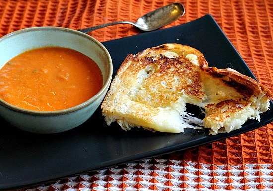Crispy Melty Grilled Cheese with Gruyere and White Truffle Butter