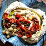 Slow Roasted Cherry Tomato Hummus with Capers