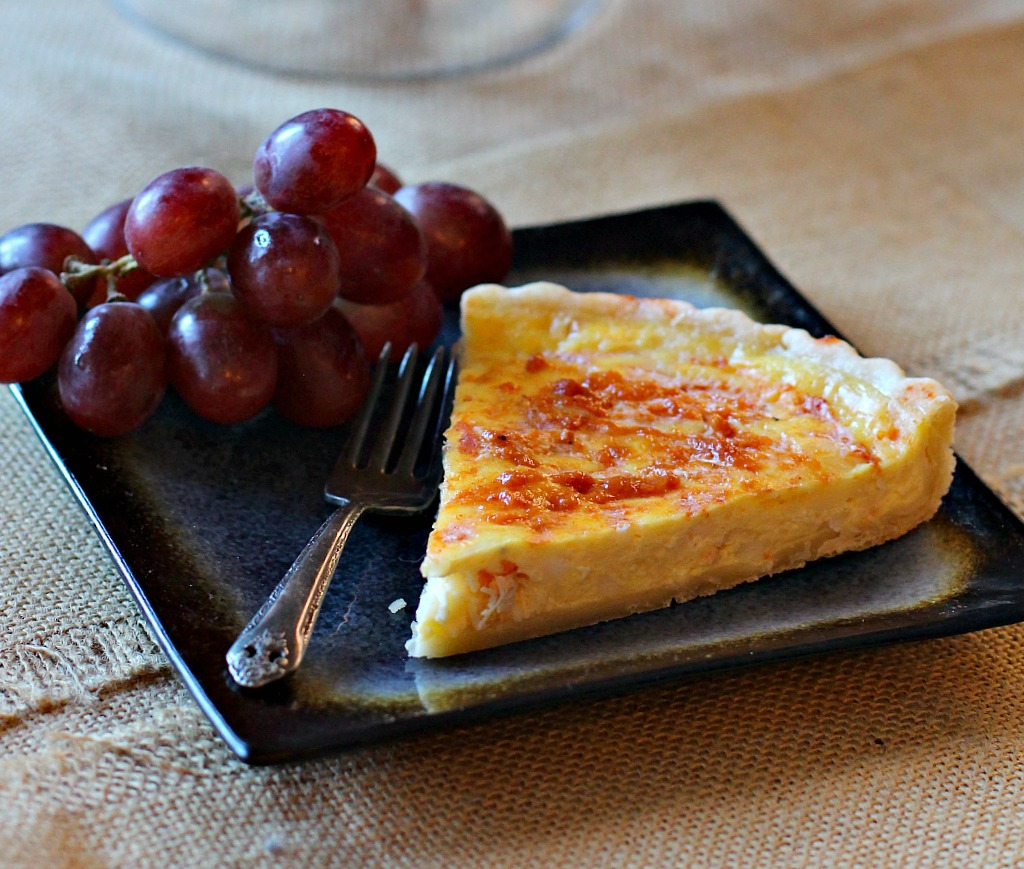 Seafood Crab Quiche Recipe with Cottage Cheese