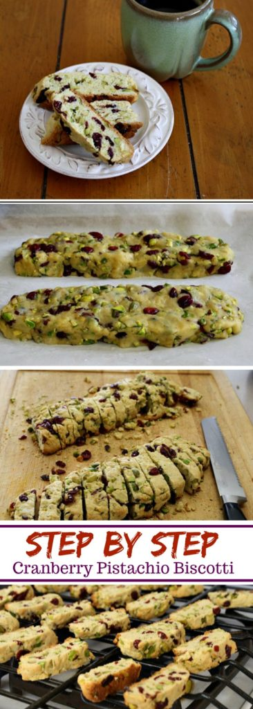 Step by step cranberry pistachio biscotti