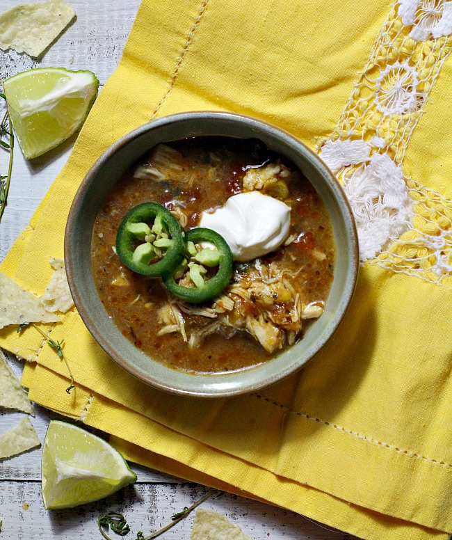 Instant Pot Recipe for Creamy Mexican Chicken Tortilla Soup.