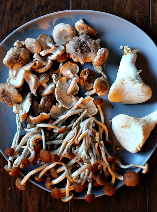 Chorizo, potato, shiitake mushroom tacos