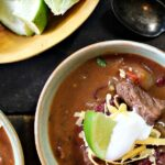 Beef chili with bourbon and beans