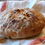 Olive Rosemary bread. A beautiful homemade bread recipe. Salty olives, savory with rosemary. A nice crust and chewy on the inside.