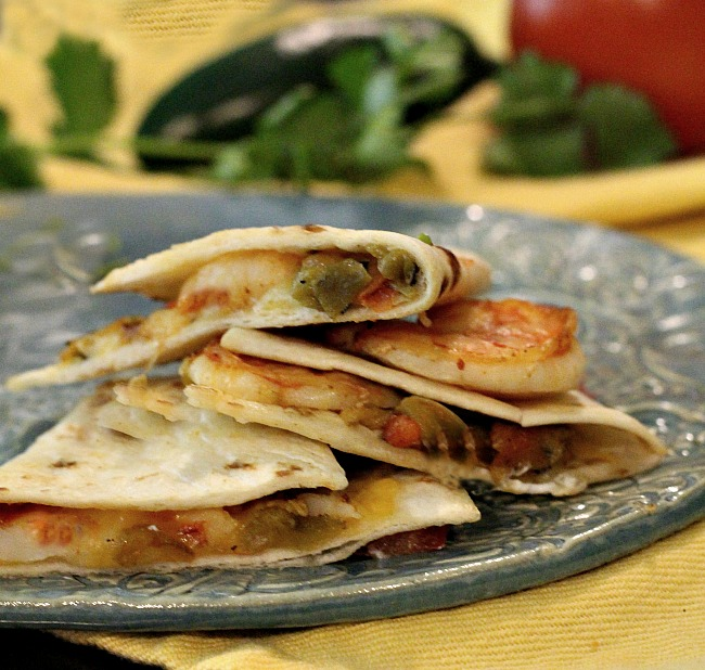 Southwestern Shrimp Quesadilla recipe. A Mexican Shrimp Appetizer recipe.